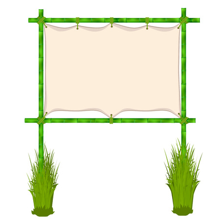 Bamboo frame. Vector illustration isolated on white background Vector