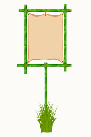 Bamboo frame. Vector illustration isolated on white background illustration