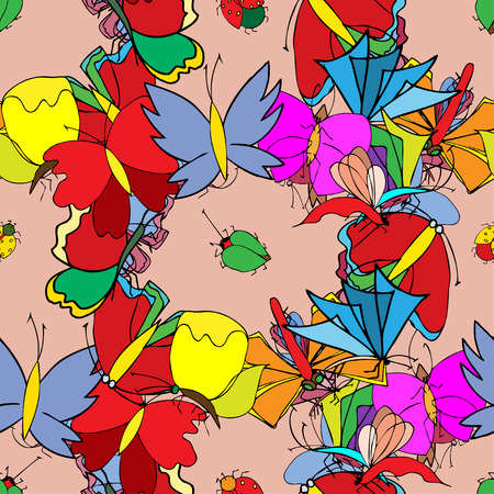 Set of butterflies. Insects. Vector illustration. Vector