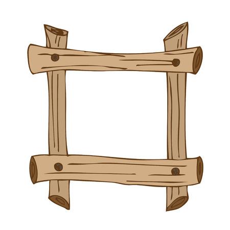 signposts: Wooden signposts. Hand-drawn Doodle. Vector illustration