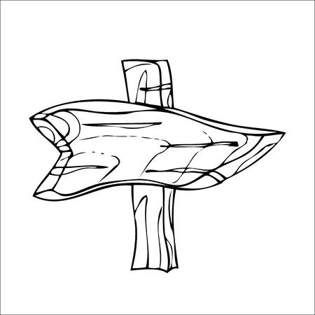 fascia: Vector Single Sketch Signpost