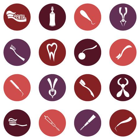 Set of Vector Dental theme icons Illustration
