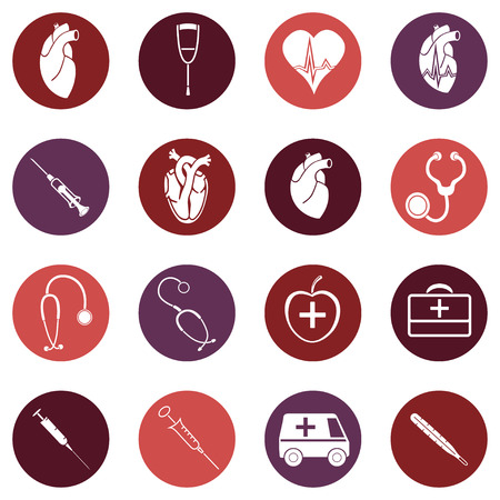 auscultation: Medicine. Heart doctor Illustration icon. Vector