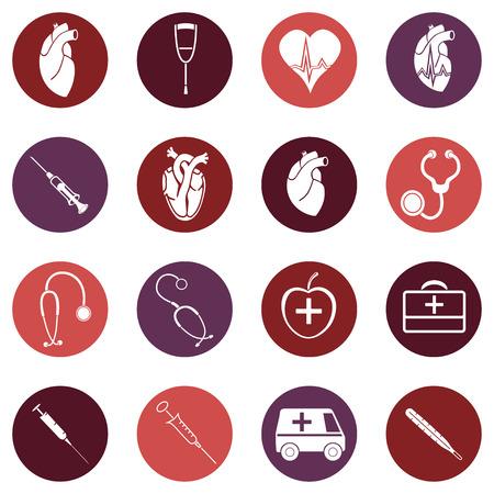 stethascope: Medicine. Heart doctor Illustration icon. Vector