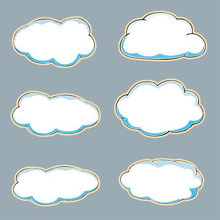 Cartoon clouds. Vector illustration Vector