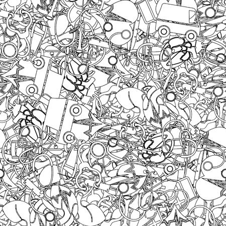 Medical vectors seamless pattern Vector