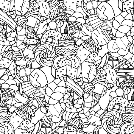 religion  herb: Seamless pattern. Set of confectionery Illustration