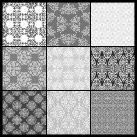 abstract wallpaper: Set of Abstract wallpaper. Seamless background for retro design