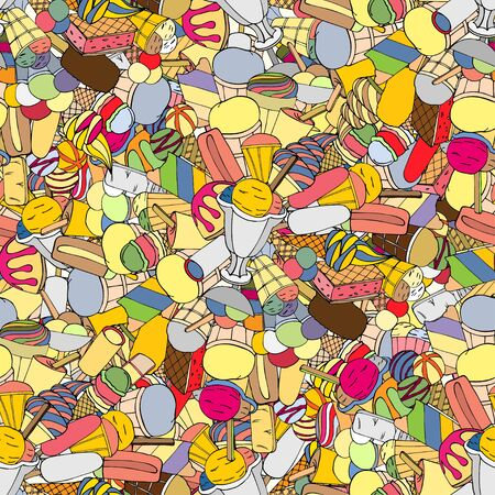 jimmies: Seamless pattern with ice cream Illustration
