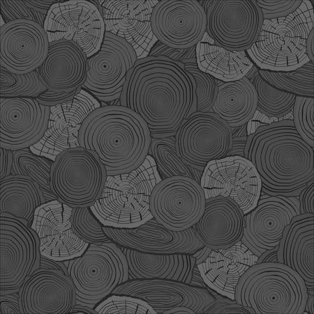 tree rings: Tree rings saw cut tree trunk background. Seamless wallpaper. Vector