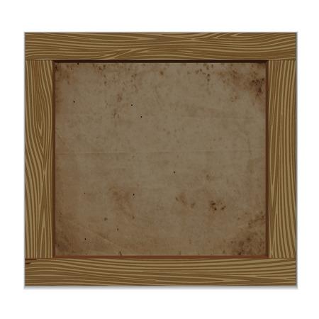 fence post: Empty notice wooden board. Vector illustration