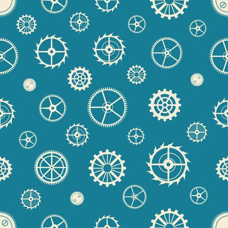 gearing: Seamless rusty cogwheel pattern. Factory background