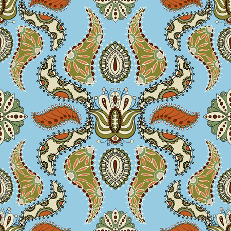 seamless pattern floral: Paisley seamless pattern. Floral background