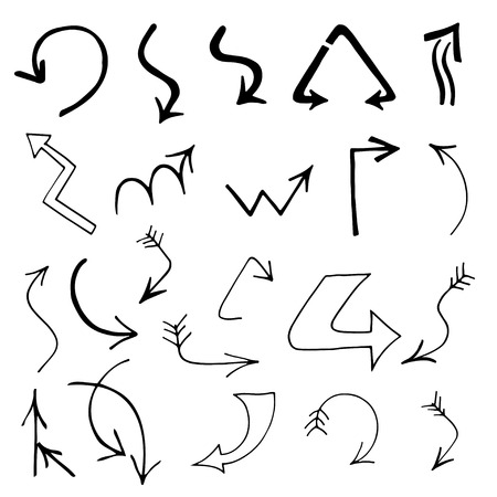 indexes: Set of Arrows and Lines. Vector illustration
