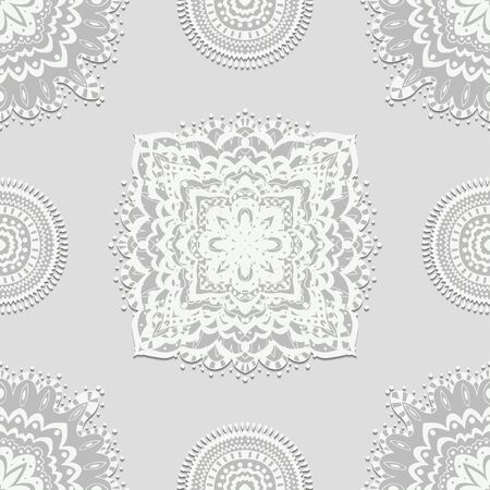 Vector seamless pattern. Classic background. Vector illustration Vector