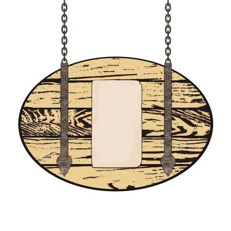 old grunge paper: Old grunge paper on wooden background. Vector illustration