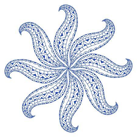 Rosette ornament Isolated on white.