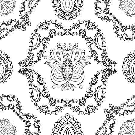 vitrage: Seamless Abstract Tribal Pattern.