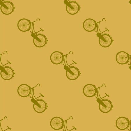 velocipede: Bicycle seamless pattern. Illustration background Stock Photo