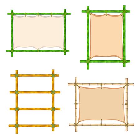 bole: Set of Bamboo frame. Illustration isolated on white background