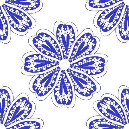 Rosette ornament. Isolated on white. Vector Illustration