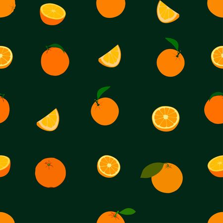 saturated color: Seamless pattern Orange pattern. Background. Vector Wallpaper Illustration