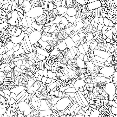 religion  herb: Seamless pattern with ice cream. Vector illustration Illustration