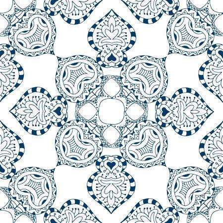 Vector seamless bleu. Isolé sur blanc Vecteurs