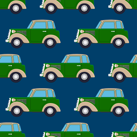 car pattern: Seamles cute car pattern. Wallpaper background. vector illustration