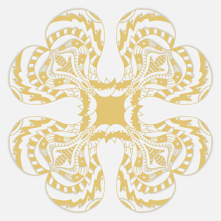 Vector gold ornament. Isolated on white Vector