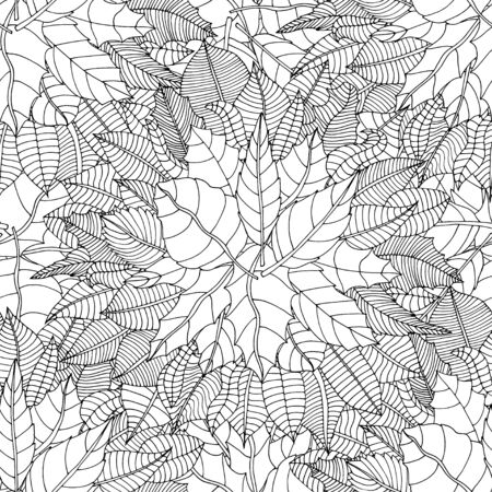ornamental pattern: Beautiful Seamless leaf background pattern. Vector illustration