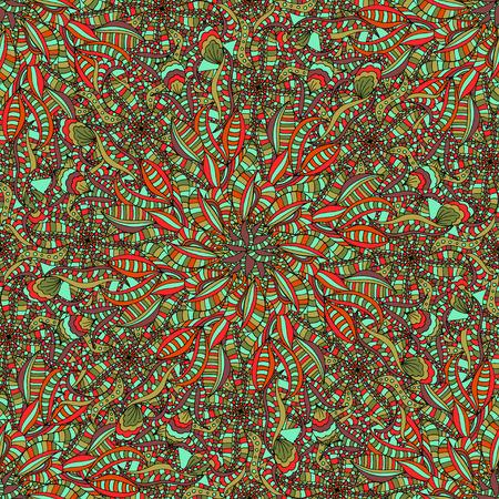 leaf background: Beautiful Seamless leaf background pattern. Vector illustration