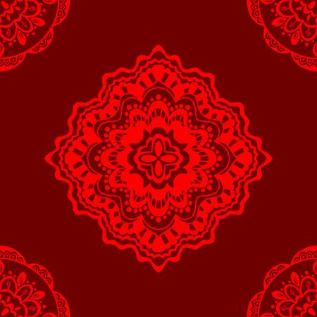 Vector sin patrón de color rojo. Aislado en rojo