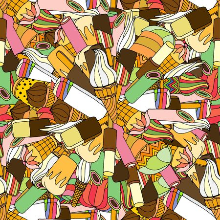jimmies: Seamless pattern with ice cream. Vector illustration Illustration