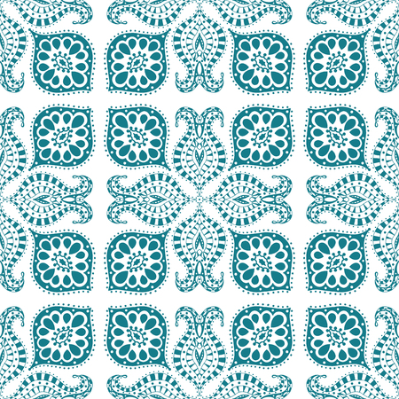 Vector seamless bleu. Isolé sur blanc