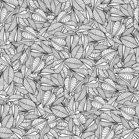 Beautiful Seamless leaf background pattern. Vector illustration