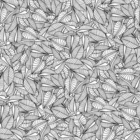 Beautiful Seamless leaf background pattern. Vector illustration