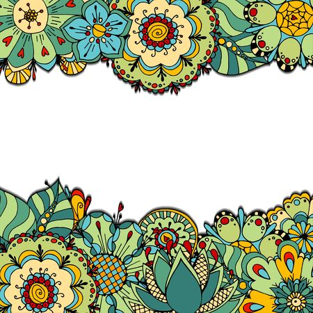 nature vector: Abstract decorative nature frame, background.  Vector illustration