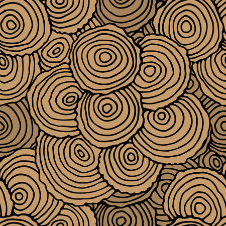 tree rings: Seamless Pattern with Tree Rings. Vector background