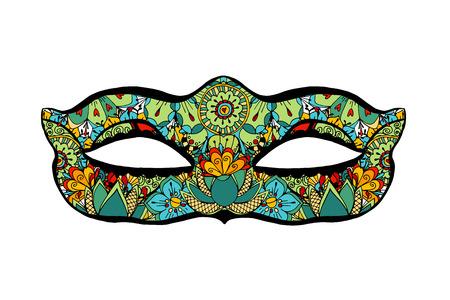 decoration decorative disguise: Hand drawn ornamental mask. Vector art illustration. Illustration