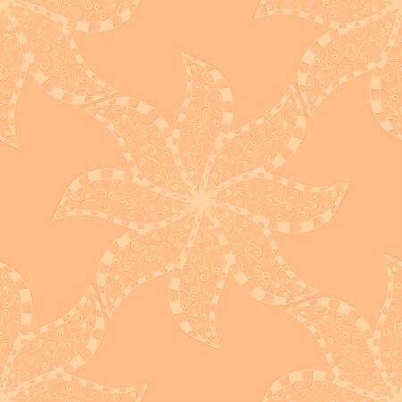 indian paint brush: Vector seamless blue, yellow, black pattern. Isolated on white
