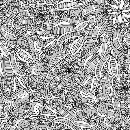 leaf background: Beautiful Seamless leaf background pattern. Illustration