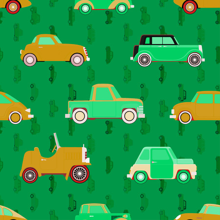 car pattern: Seamles cute car pattern.