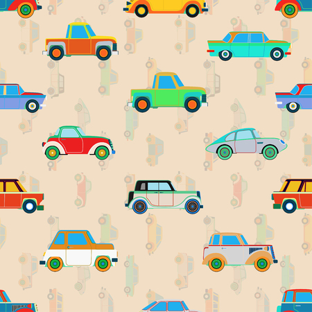 car pattern: Seamless cute car pattern.