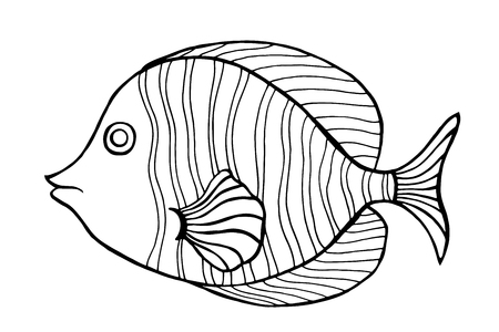 fish type: Zentangle stylized Fish.