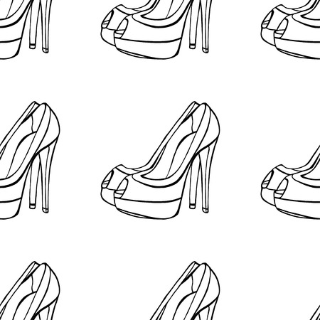 womens: Seamless background of Womens shoes.