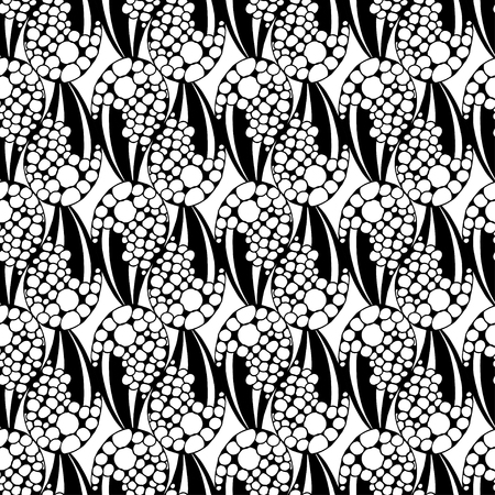 motif geometriques: illustration sans soudure motif g�om�trique noir et blanc Illustration