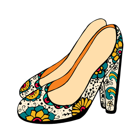 brogues: illustration of woman shoes.