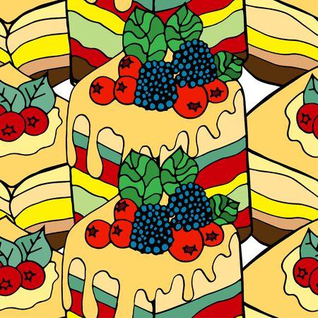 fruitcake: Seamless background of the cake.