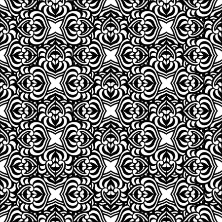 vitrage: Seamless Abstract Tribal Pattern. Vector illustration. Hand Drawn Texture